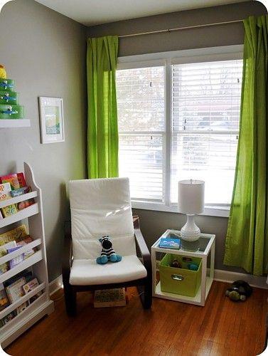 Modern Gray And Green Nursery