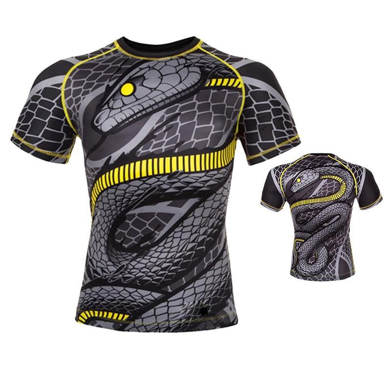 Black Mamba Short Sleeve Compression Shirt Mma t shirts