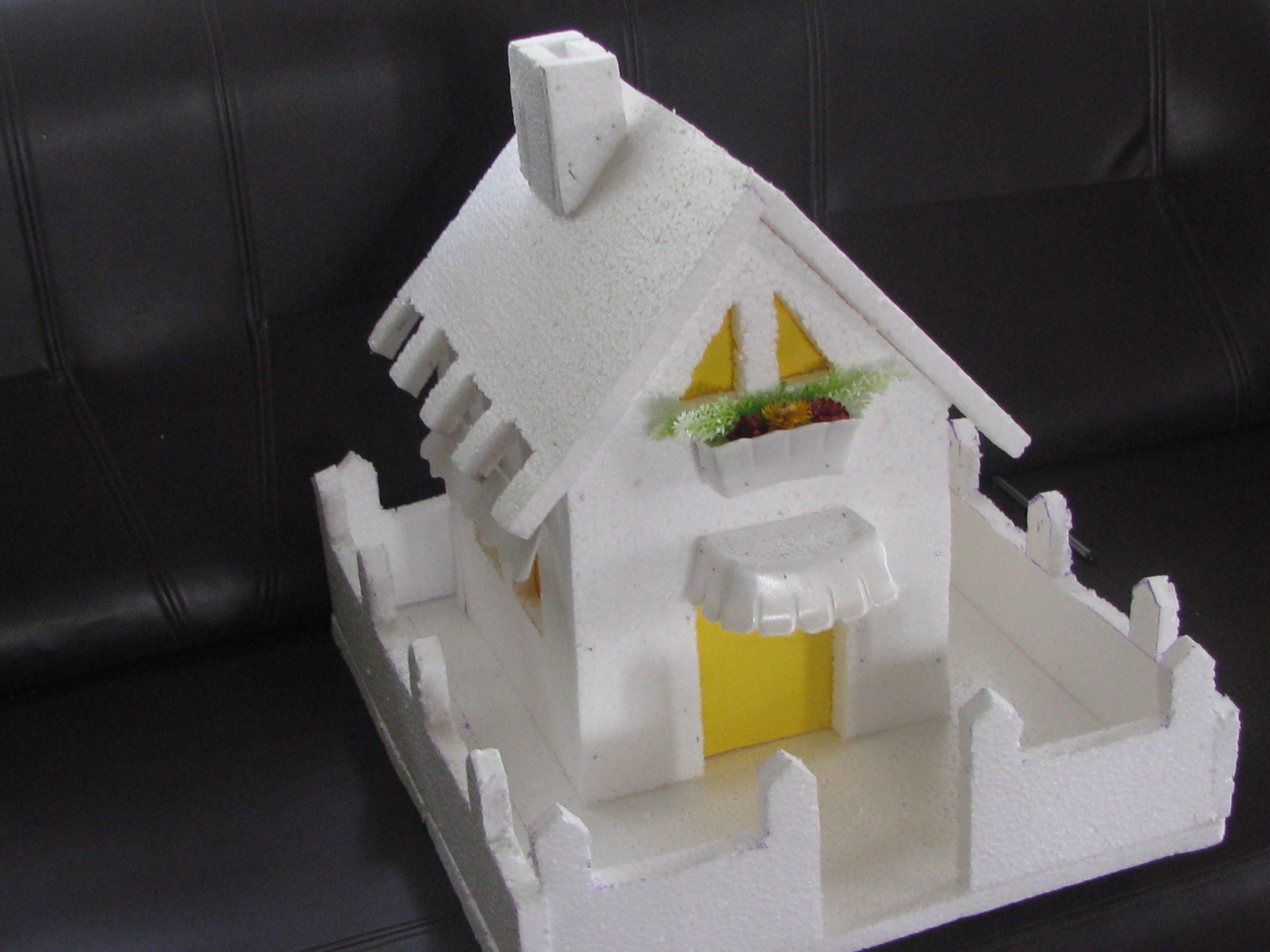 How to make a Thermocol Model House - Model 1   drawings   Model