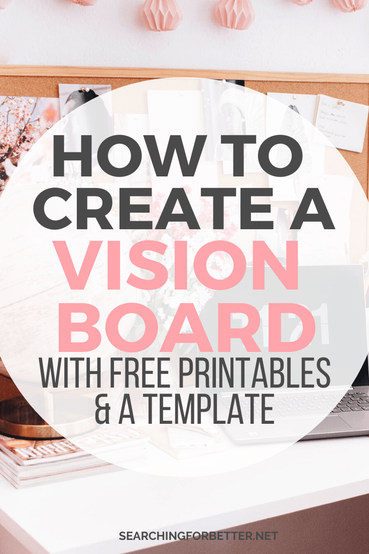 Creating A Vision Board 2020 (With Free Vision Board Template + Printables) - SFB Collective