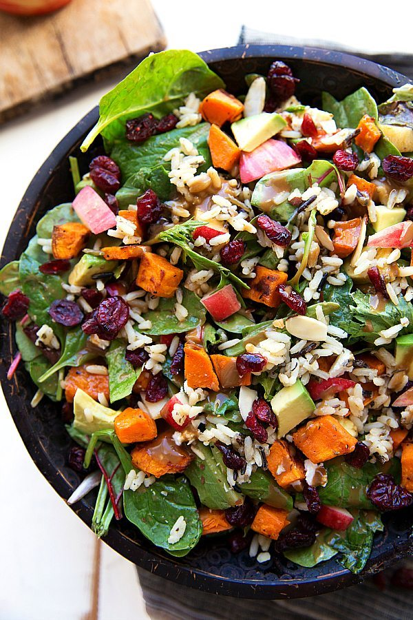 Roasted Sweet Potato and Wild Rice Salad | Chelsea's Messy ...