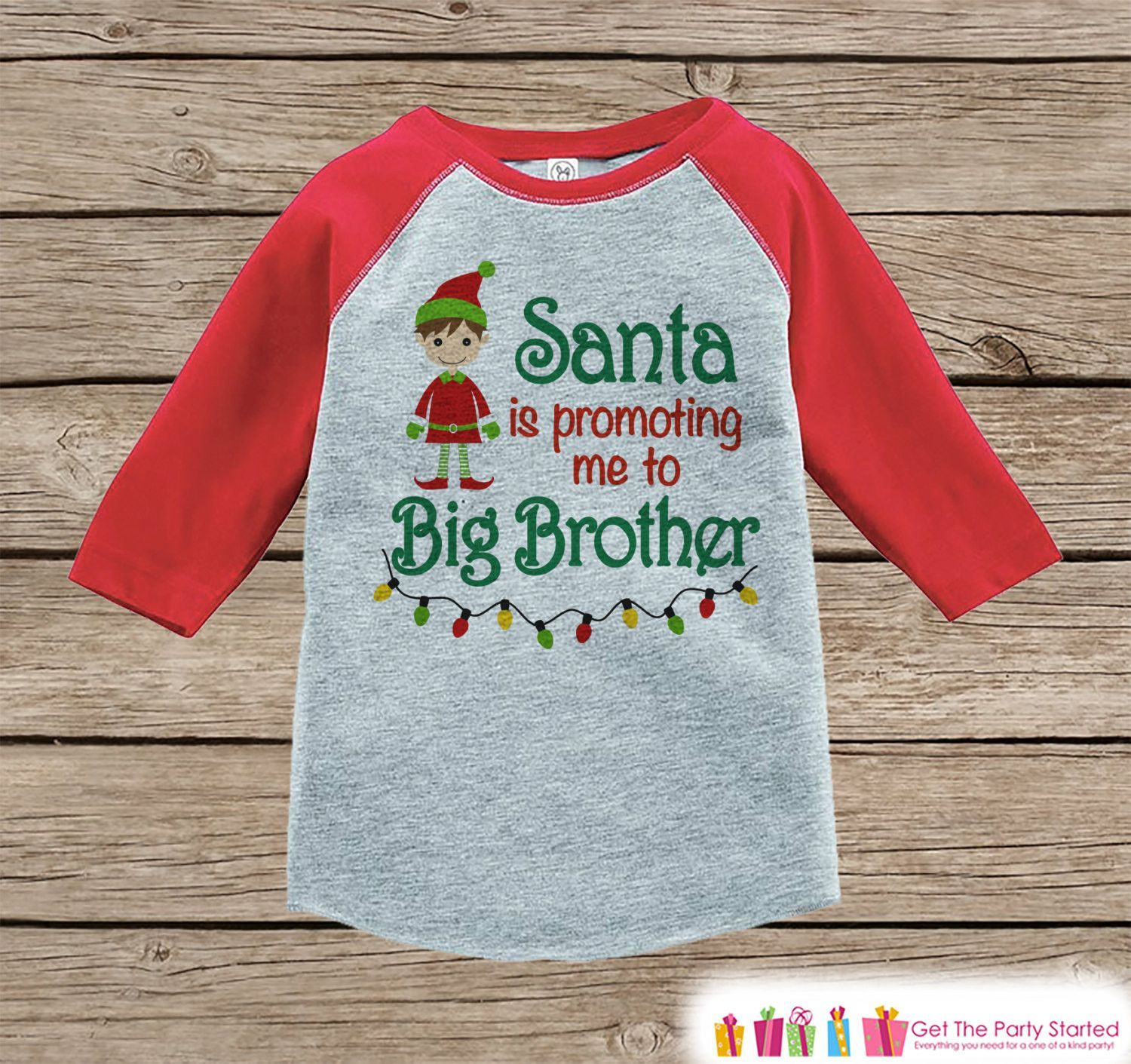 Big Brother Christmas Outfit - Pregnancy Announcement ...