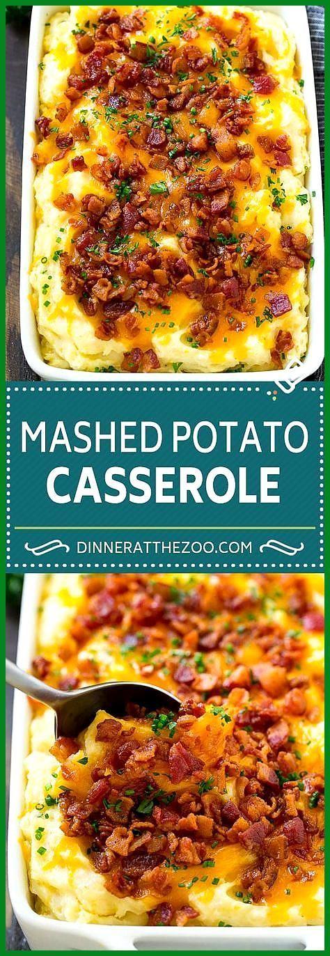 Loaded Mashed Potato Casserole- Loaded Mashed Potato Casserole Recipe | Loaded Potatoes | Bacon Mas