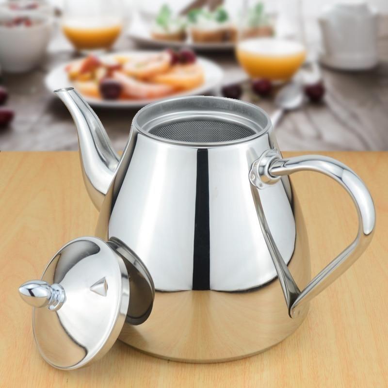 Classic Designer Polished Stainless Steel Tea Pot With Tea Strainer Fi House Boutique In 2020 Tea Pots Tea Strainer Tea Kettle