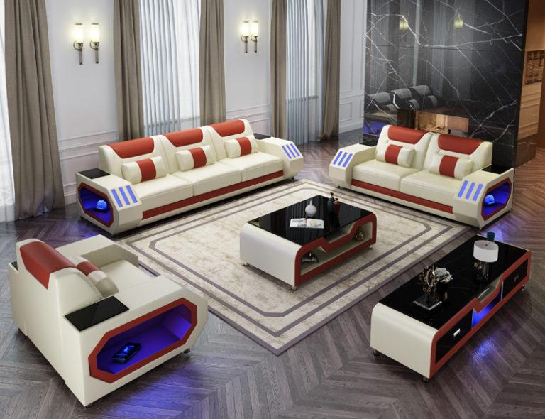 Hot Sale Sofa Set Living Room Furniture Divan Sofas Modernos Para Sala Muebles De Sala Sofa Cama In 2020 Leather Sofa Set Sofa Set Leather Sofa