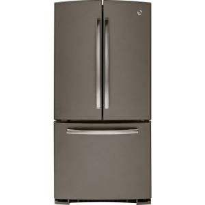 Ge 22 1 Cu Ft French Door Refrigerator In Slate Gne22gmees At The Home Depot Slate Refrigerator