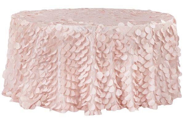 Petal Circle Taffeta Round 120 Tablecloth Blush Rose Gold