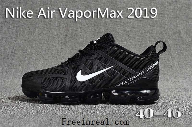 new product eaa34 5644b New NIKE Air VaporMAX 2019 KPU Black White Men Shoes