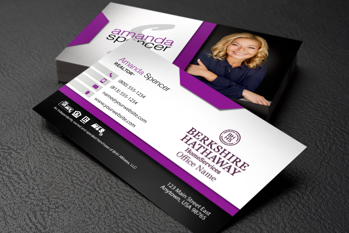 Berkshire Hathaway Realtors We Have New Business Cards Just For You Realtor Berkshireh Free Business Cards Glossy Business Cards Real Estate Business Cards