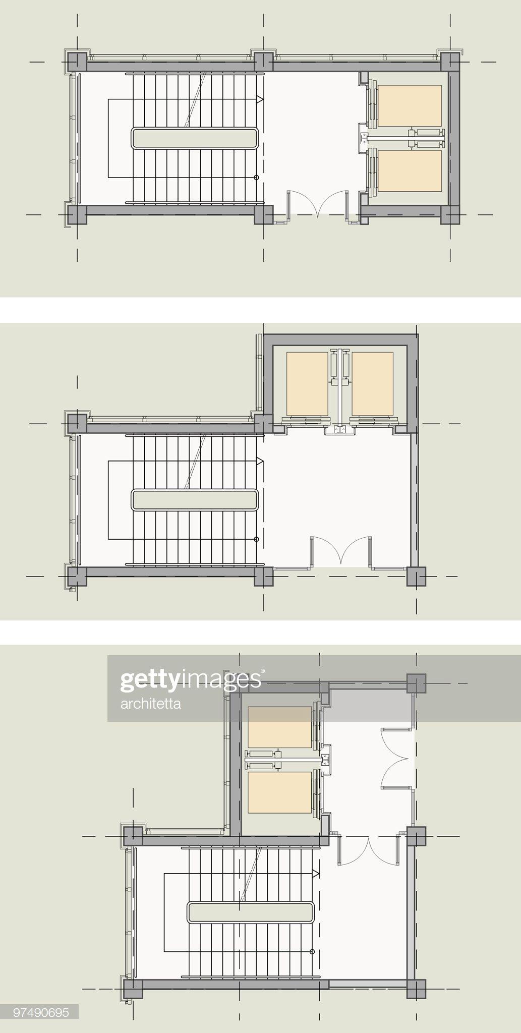Elevator Stairs Core Types Plan 2020 Asansor Mimari Tasarim