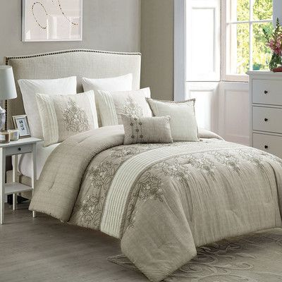 World Menagerie Ruppe 7 Piece Comforter Set Color Taupe Neutral