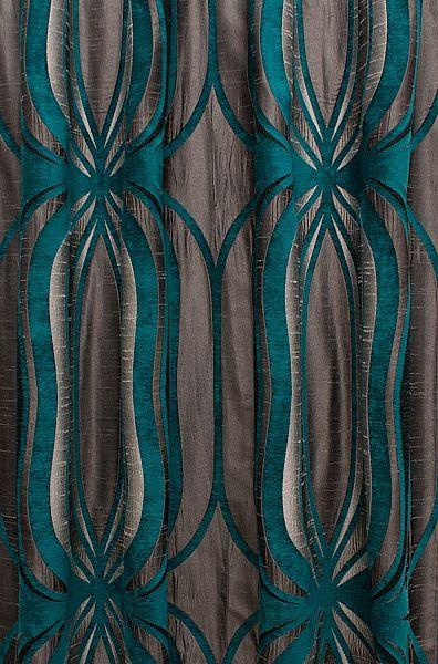 Orion Teal Curtain Fabric Teal Curtains Grey Bedroom Decor