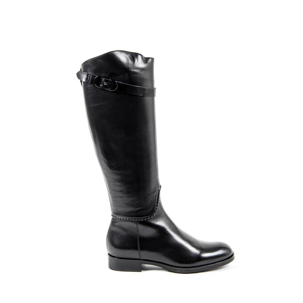 Versace 19.69 Abbigliamento Sportivo Srl Milano Italia Womens High Boot B2414 VITELLO NERO