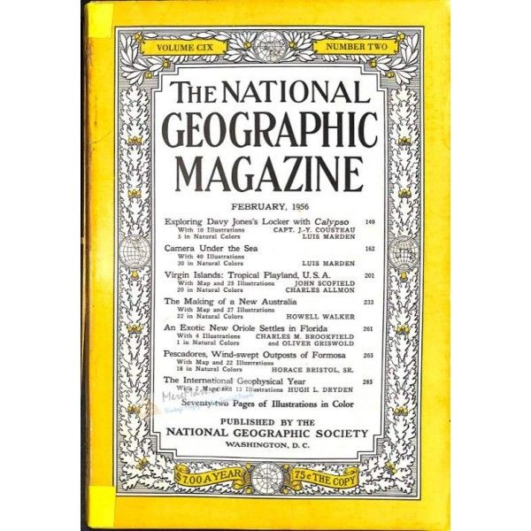 National Geographic February 1956 A Unique Gift Vintage