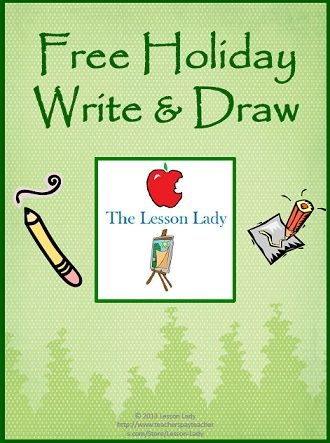 FREE Holiday Write & Draw Pack! Includes five printable writing prompt pages with space for students to both write the answer and draw a related picture.