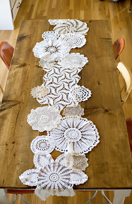 Sewn together, they make a beautiful table runner.