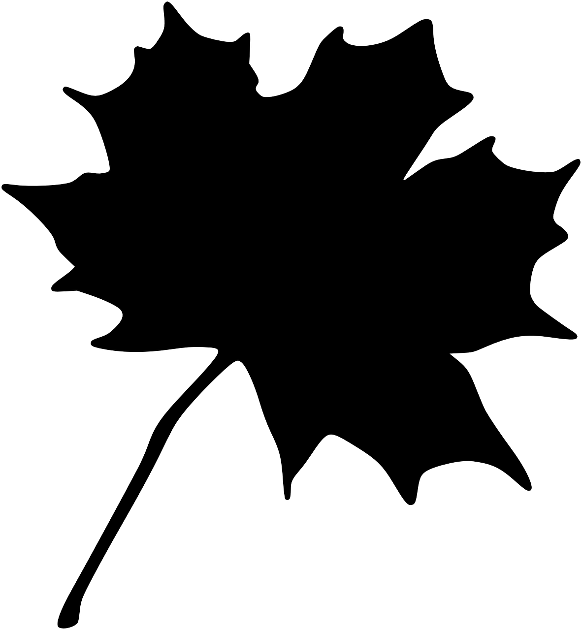 Clipart Maple Leaf Silhouette 2 Leaf Silhouette Silhouette Vector Silhouette