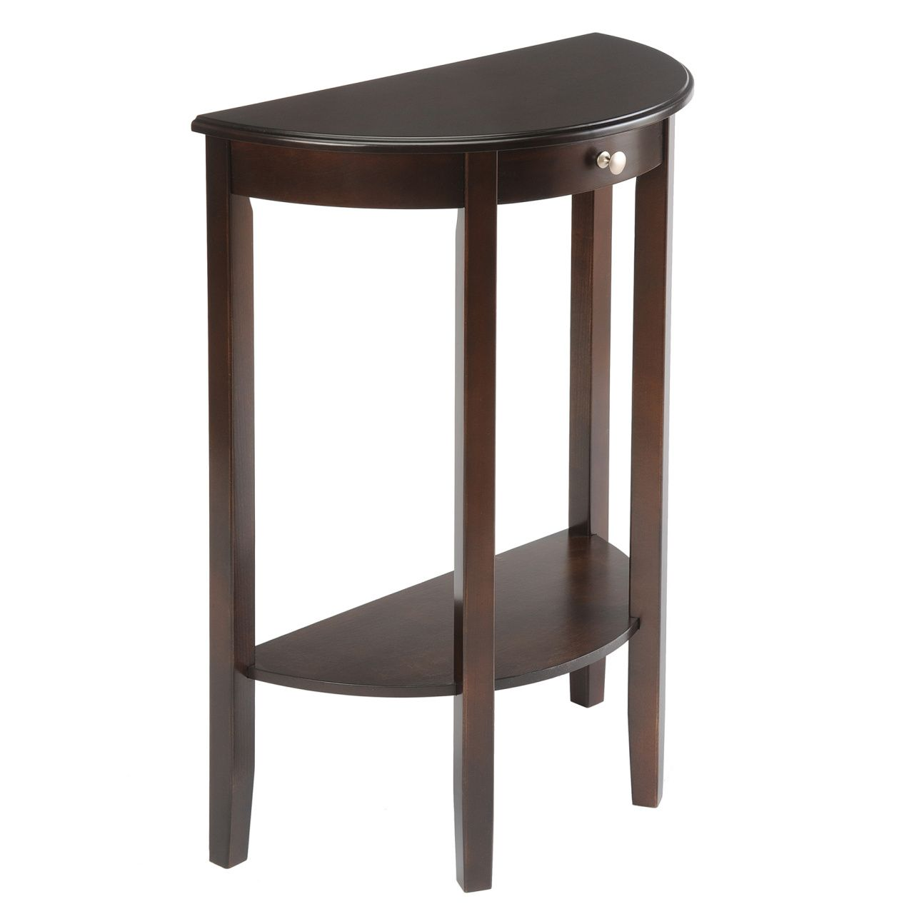 Small Half Circle Table Real Wood Home Office Furniture