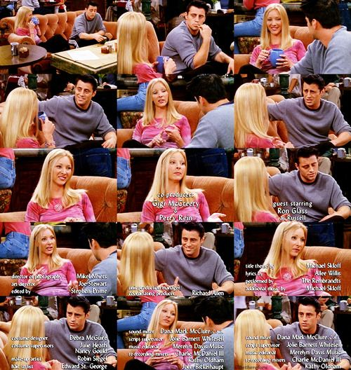 Joey: So, Ross and Rachel got married, Monica and Chandler