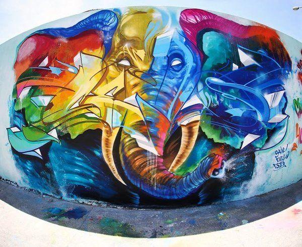 #streetart by @mone671 and Celo in Brazil