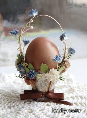 Корзинка для пасхальных яиц из бумаги своими руками ...