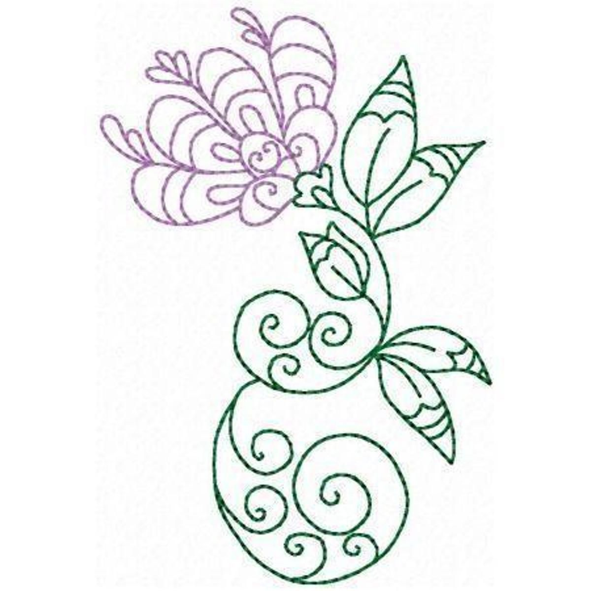 Elegant flowers embroidery pattern rp flowers pinterest