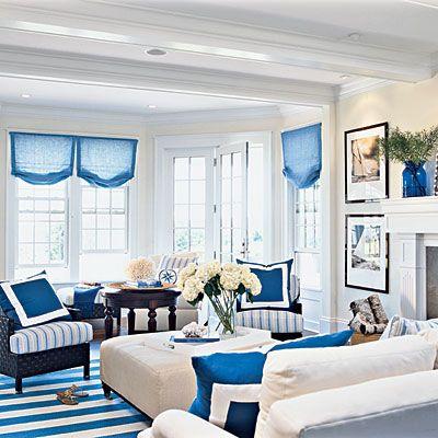 astounding new england style living room   2006 Idea House: New England Classic   Coastal living ...