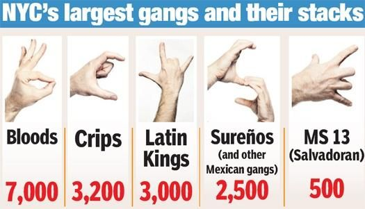gang hand signs | Gangs have their own language to ...