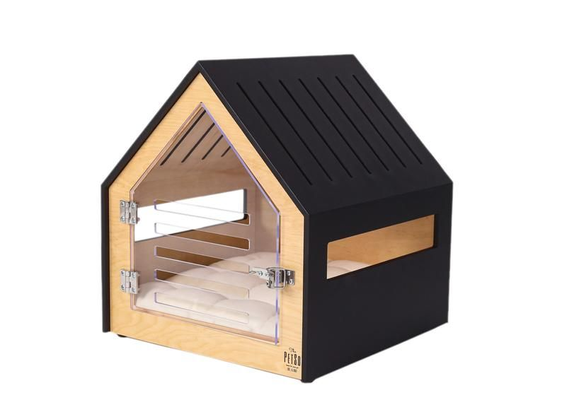 Modern Dog And Cat House With Acrylic Door Petso Dog Bed Cat Bed Dog And Cat Furniture Indoor Dog House Dog Kennel Dog Crate Dog Bed Indoor Dog House Modern Dog