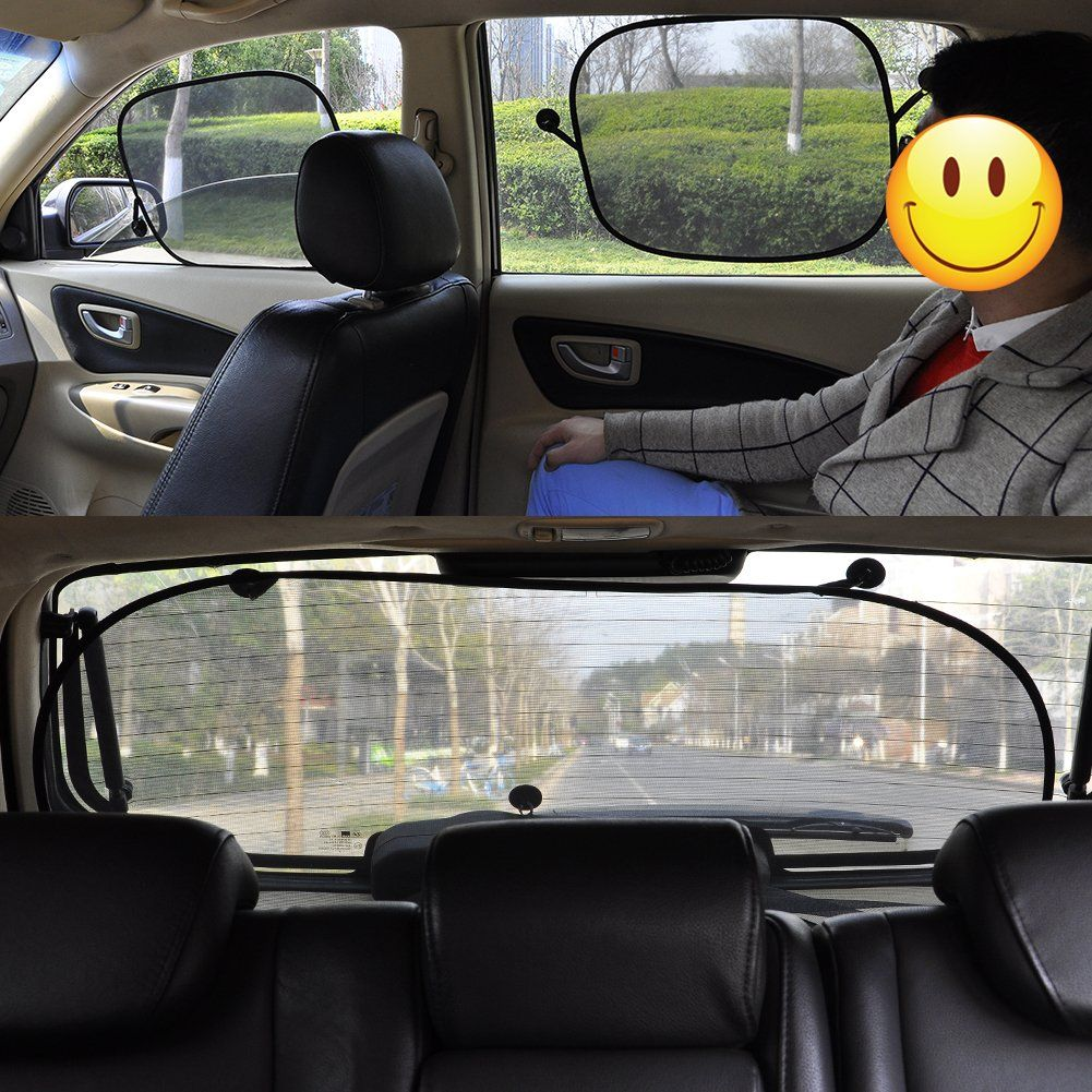 Car Window Shade 3 Pack Foldable 20x12 Side Window