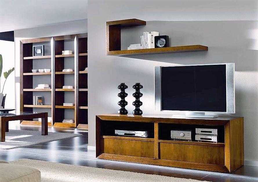 Mueble de televisión formado por una estructura con marco exterior ...