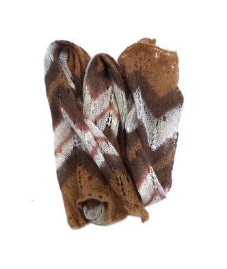 Missoni Brown & White Chevron Open Knit Scarf
