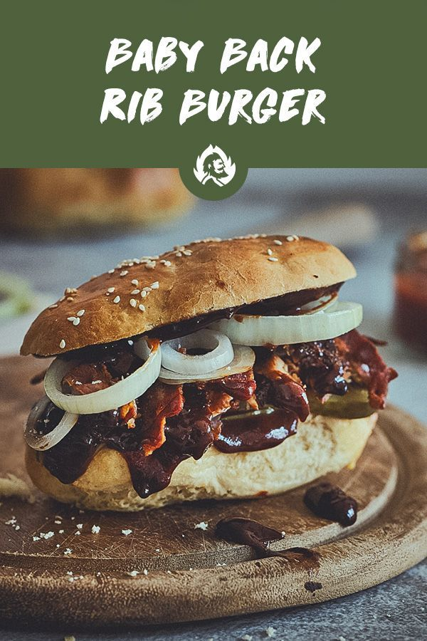 Photo of Rezept Baby Back Rib Burger/ Whisky-Apfel Glasur/ Rippchen / Rib Burger