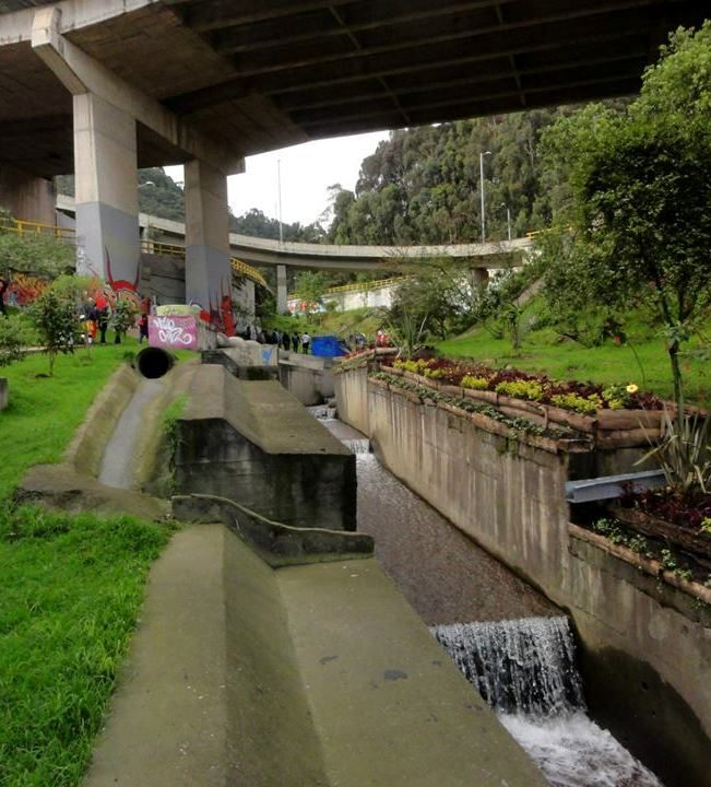 Quebrada las Delicias, localidad de Chapinero, Bogotá.   ( foto Joselh Hómez)