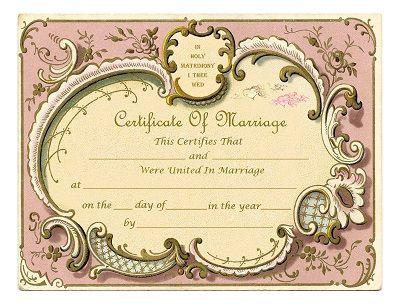 Keepsake Marriage Certificates for free download, Free graphics with - copy free fake marriage certificate
