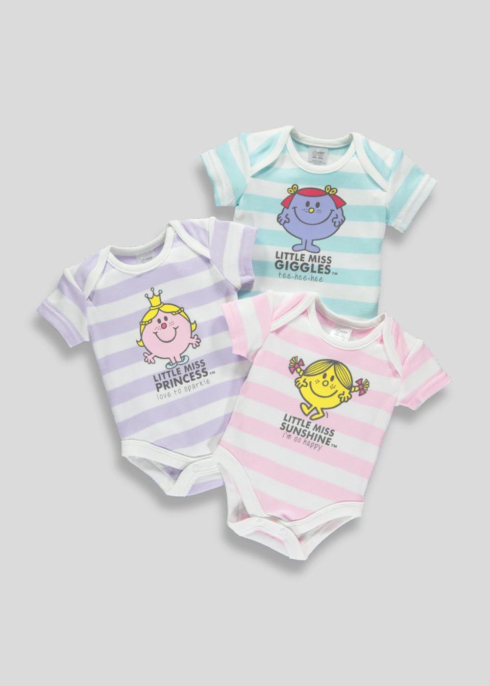d6021f0f7461 Unisex 3 Pack Little Miss Bodysuits (Newborn-12mths) – Multi