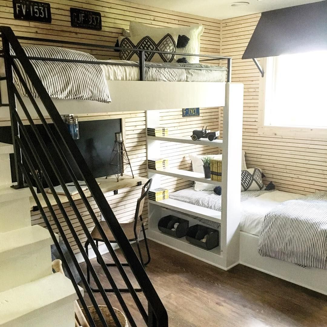 Nursery Decor Ideas From Joanna Gaines: I Love The Mix Of Metal, Raw Wood, And White In This Young
