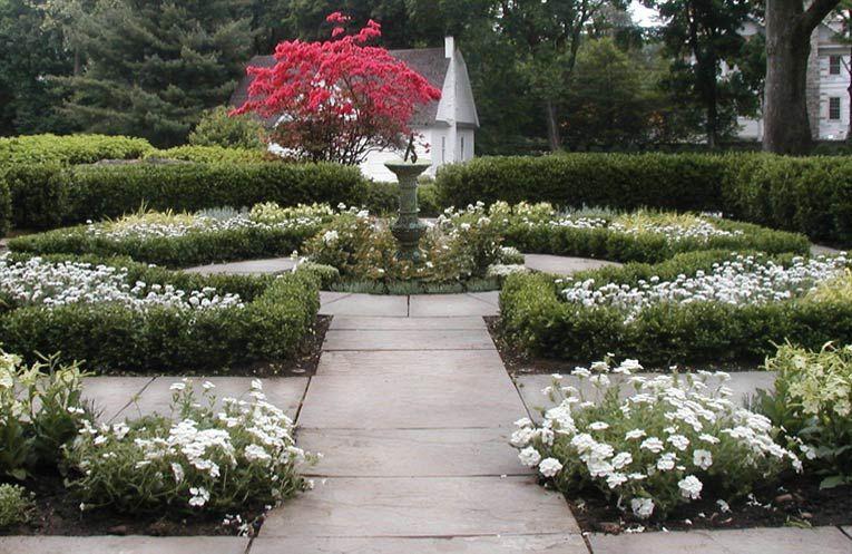 White Garden with Circular Stone Paths Kate Reid