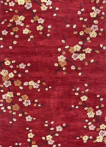 Jaipur Burke Decor Floral Rug Yellow Area Rugs Red Rugs