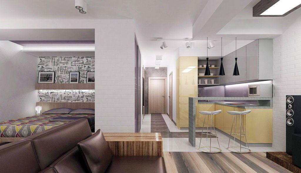 Дизайн студии 27 кв м: проекты планировки современной ...