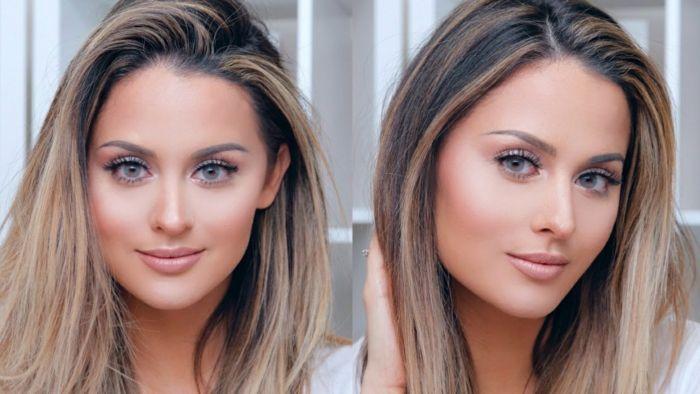 perfektes make up makeup tipps blonde haare gro e gr ne. Black Bedroom Furniture Sets. Home Design Ideas