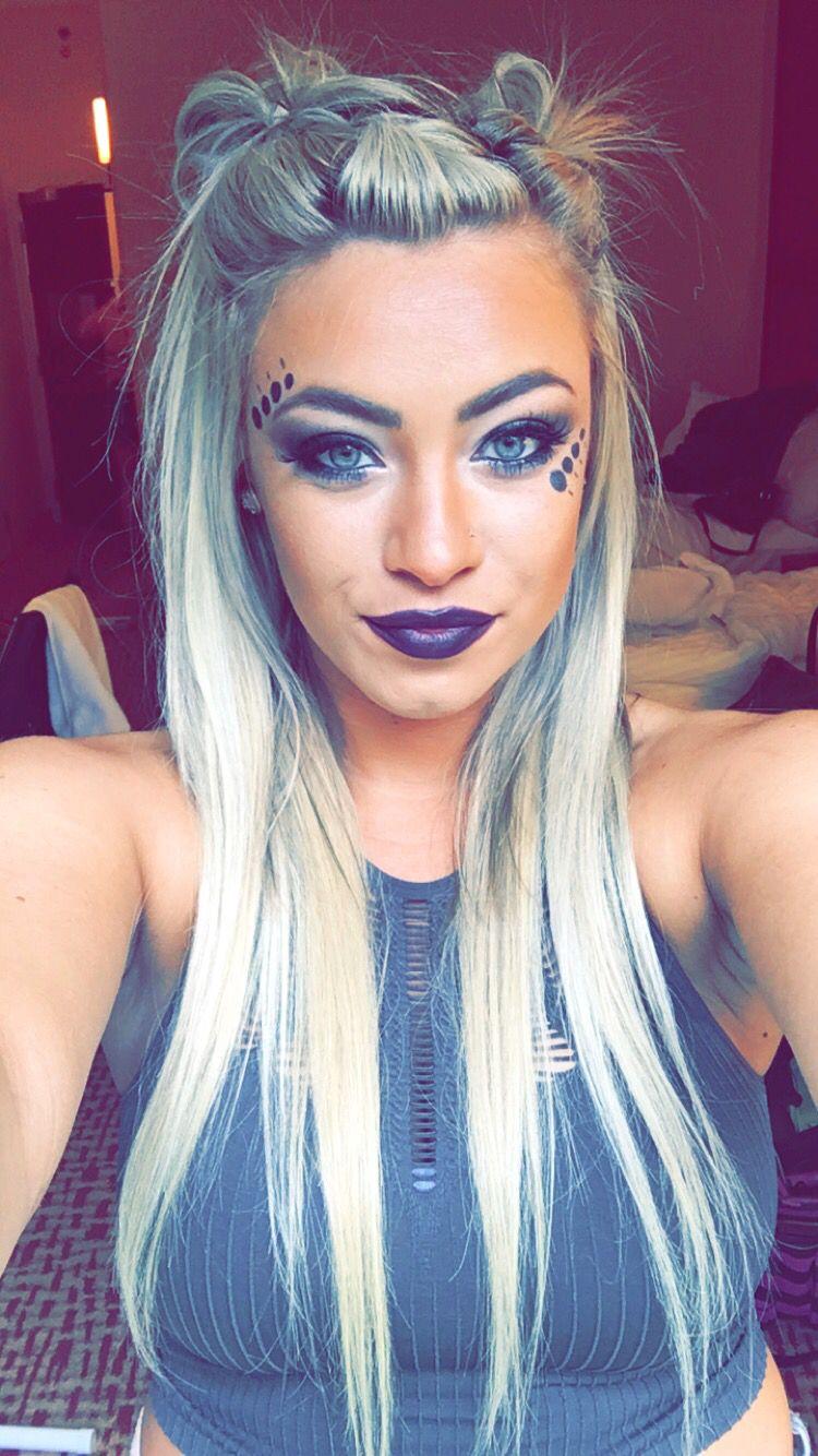 music festival hair style makeup