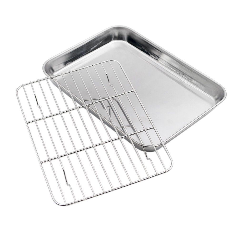 Aspire Baking Sheet With Rack Set Stainless Steel Cookie Sheet And