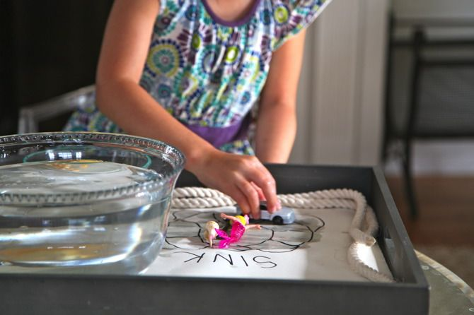 Sink or Float - simple & fun educational kid activity