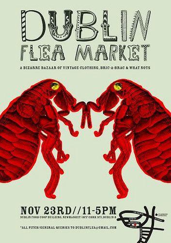 Dublin flea market poster | Fleas, Dublin, Marketing