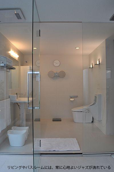 大きな空間構成とドイツ製品の家 東京組 寝室インテリアの