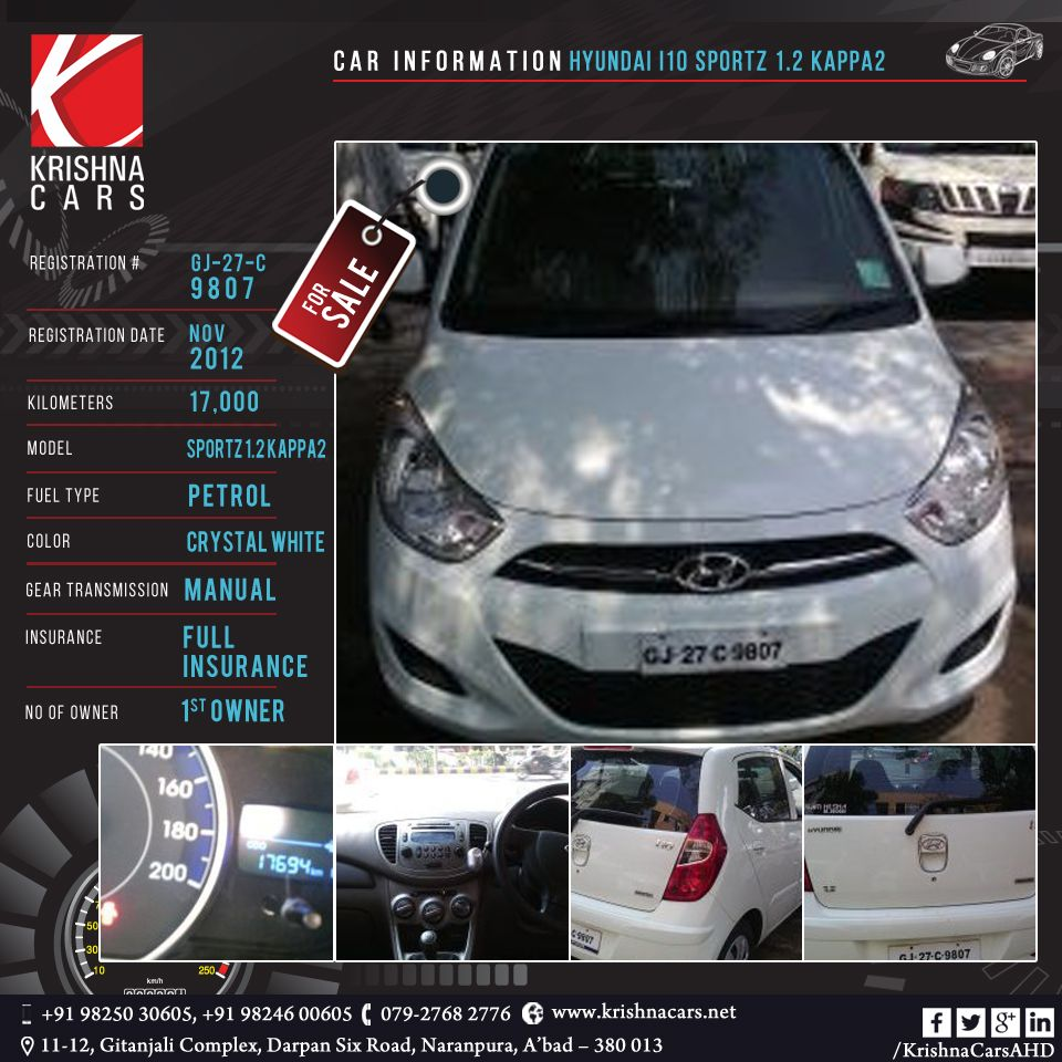 Usedcar For Sale Car Information Hyundai I10 Sportz 1 2 Kappa2