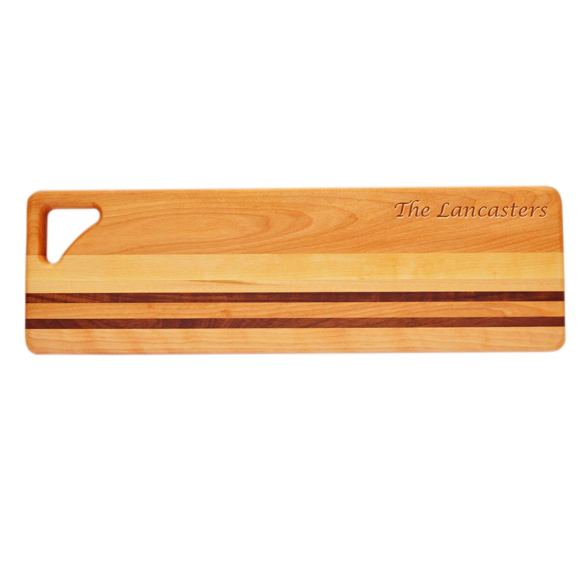 "The Carved Solutions Integrity Long Cutting Board measures 20"" x 6"" x 3/4"" (Ship Weight 3lbs) It is fun to see customers look and handle the Long Board. Watching closely you can see the visions of a long baguette of French Bread or an obliquely sliced sausage or a selection of canapes come in to their minds eye. A board which serves tasks ranging from the cutting of celery and cucumber to the realization of those first visions."
