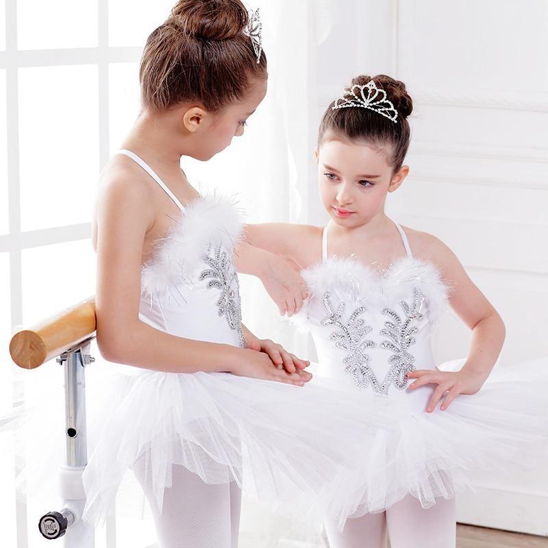 ab9772b125 Children White Swan Lake Ballet Tutu Dress Ballerina Dress Kids Perform  Stage Dress Dance Leotard Princess