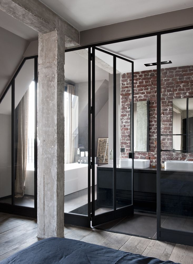 Industrial Paris Loft With Views Over The City - Gravity - porte accordeon pour douche